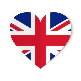 Verenigd koninkrijk vlag met origami-stijl op horen