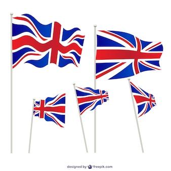 Verenigd koninkrijk vlaggen ingesteld