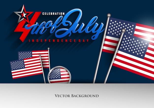 Verenigde aangekondigd van amerikaanse onafhankelijkheidsdagviering