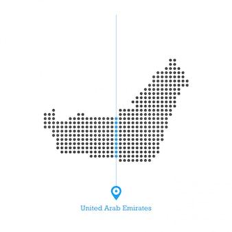 Verenigde arabische emiraten verliefd kaart ontwerp vector