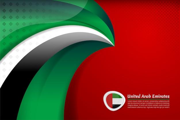 Verenigde arabische emiraten vlag achtergrond voor nationale feestdag