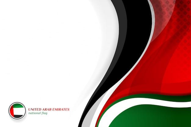 Verenigde arabische emiraten vlag concept achtergronden