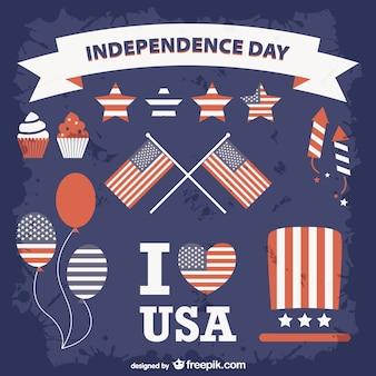 Verenigde staten de onafhankelijkheid dag set