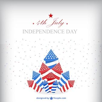 Verenigde staten de onafhankelijkheid dag vrije illustratie