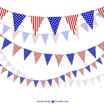 Verenigde staten feest slingers vector
