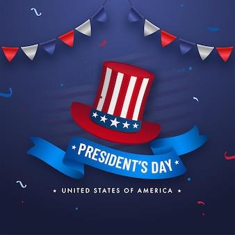 Verenigde staten van amerika, president's day concept