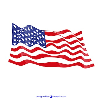 Verenigde staten vector gratis vlag