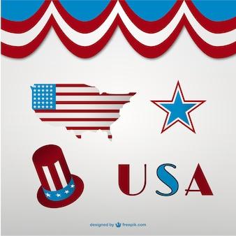 Verenigde staten vectorsymbolen
