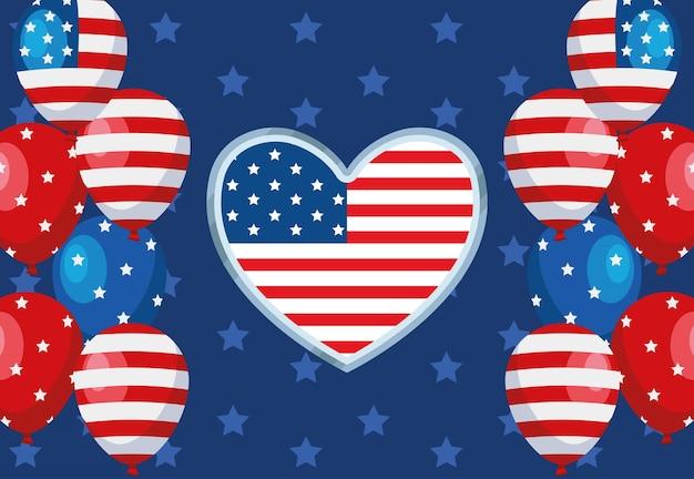 Verenigde staten viering achtergrond