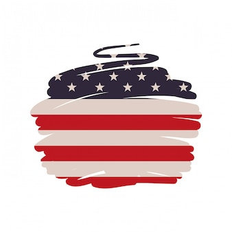 Verenigde staten vlag geïsoleerd
