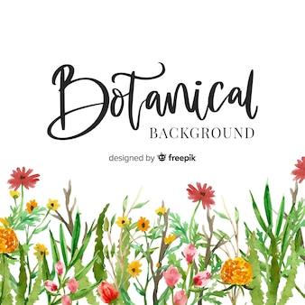 Verf botanische achtergrond