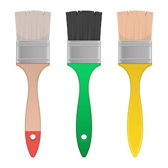 Verf penseel illustratie op witte achtergrond