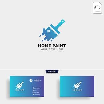 Verf penseel kleurrijke logo sjabloon vector pictogram element