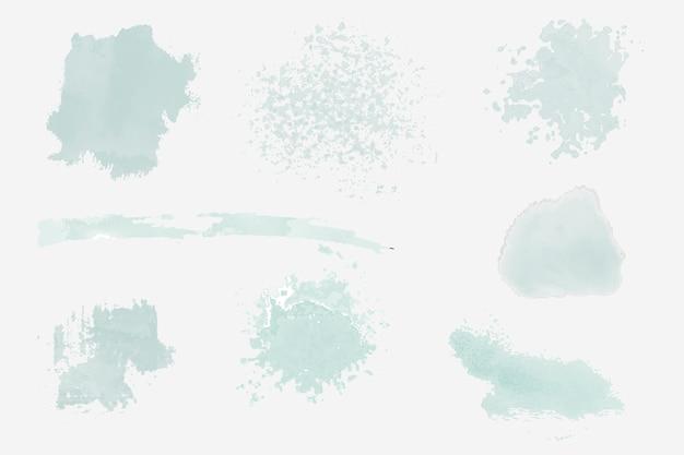 Verf ploetert ontwerpset vector set