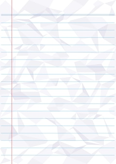 Verfrommeld blauw lijn witboek