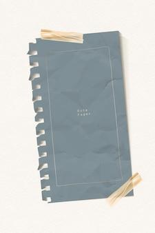 Verfrommeld grijs papieren notitiesjabloon