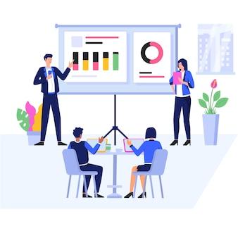 Vergadering concept illustratie