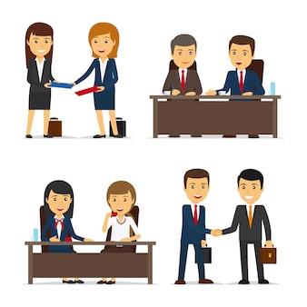 Vergadering van mensen uit het bedrijfsleven