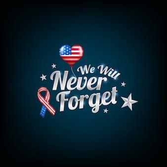 Vergeet nooit 9/11 patriot-dag