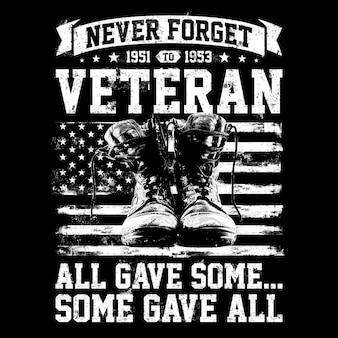 Vergeet nooit de veteranen van 1951 tot 1953, allemaal gaven sommigen wat allemaal