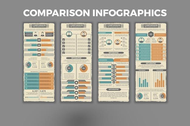 Vergelijking infographic sjabloon