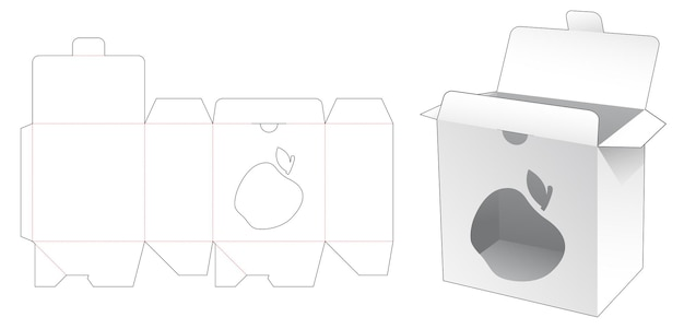 Vergrendelde puntverpakkingsdoos met appelvormig venster gestanst sjabloon