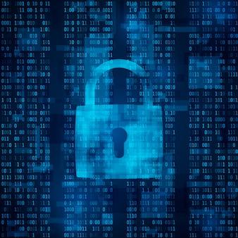 Vergrendeling voor hackeraanvallen. gegevensbescherming tegen hacking. antivirus software. cyberbeveiliging. data encryptie