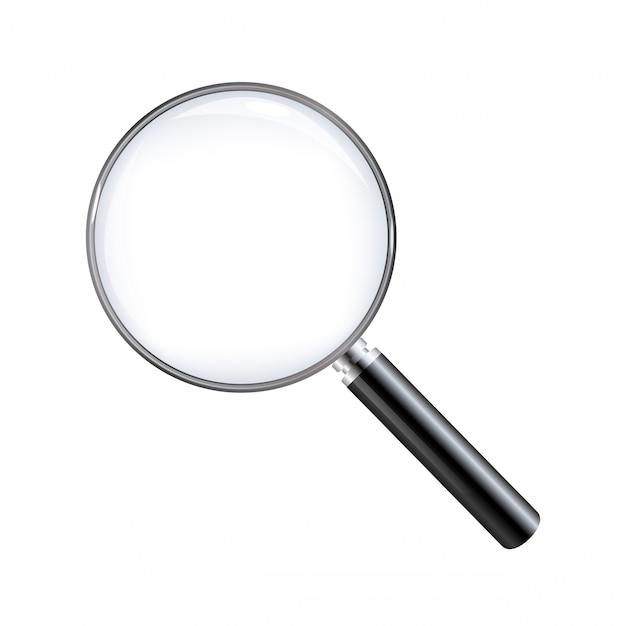 Vergrootglas geïsoleerd met een witte achtergrond