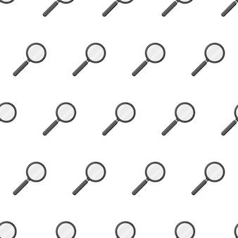 Vergrootglas naadloze patroon. vergrootglas thema illustratie
