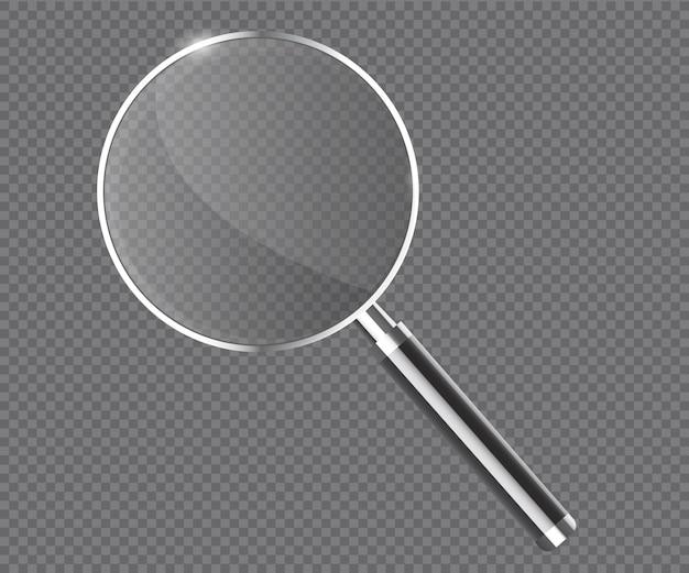 Vergrootglas transparante realistische vector