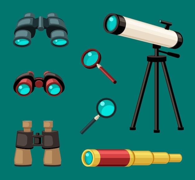 Vergrotende optische apparaten ingesteld
