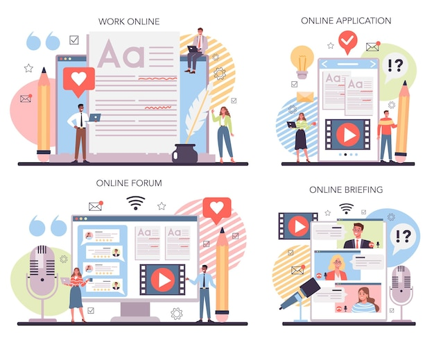 Verhalen vertellen online service of platformset