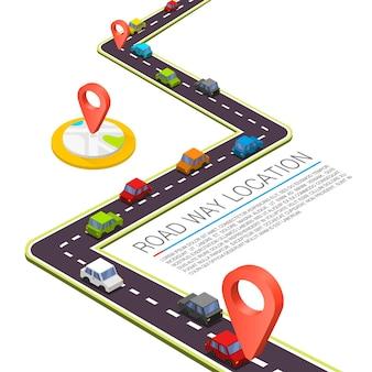 Verhard pad op de weg. vector achtergrond