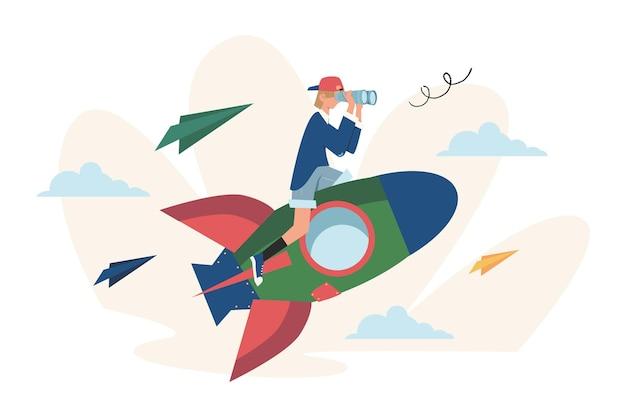 Verhoog de motivatie om het doel te bereiken met behulp van raket