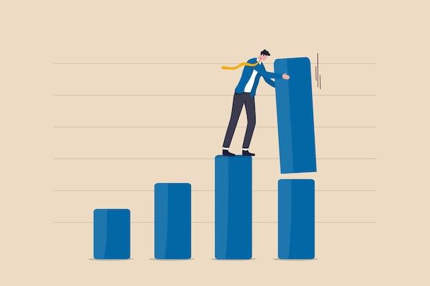 Verhoog investeringswinst, stijgend bbp of groeiend bedrijfsconcept.