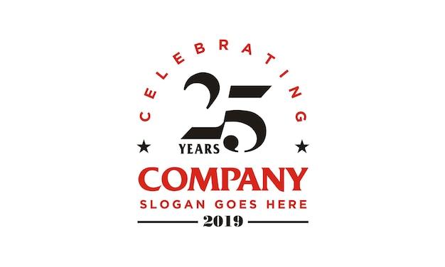 Verjaardag 25e bedrijfslogo ontwerp
