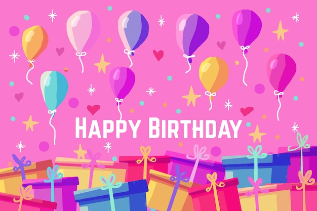 Verjaardag achtergrond met ballonnen