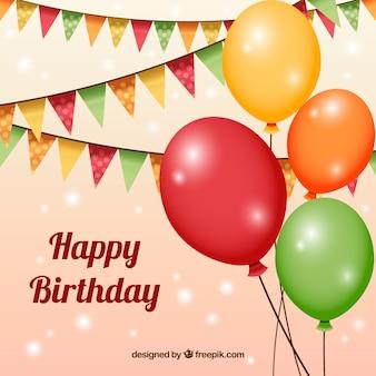 Verjaardag achtergrond met ballons
