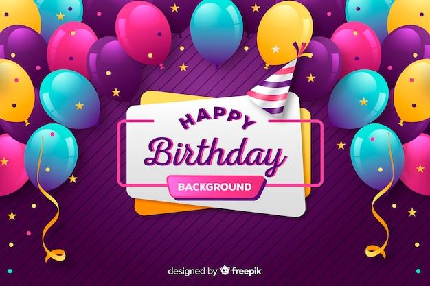 Verjaardag ballon achtergrond