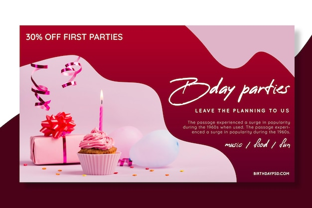 Verjaardag banner concept