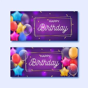 Verjaardag banners sjabloon