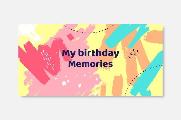 Verjaardag blog koptekstsjabloon