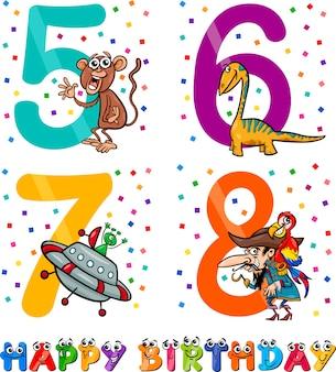 Verjaardag cartoon ontwerp voor jongen