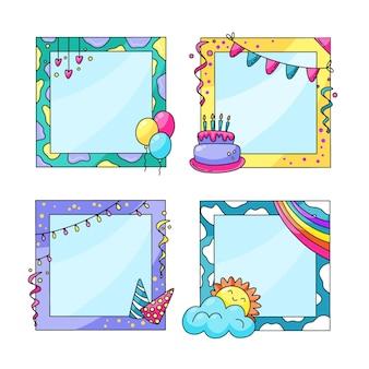 Verjaardag collage frame-collectie
