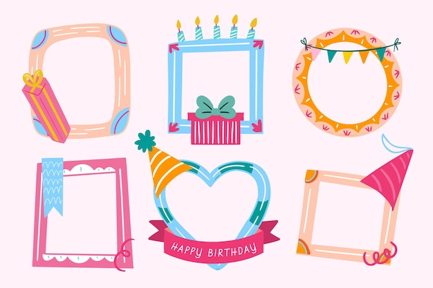 Verjaardag collage frames instellen