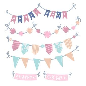 Verjaardag decoratie met slingers