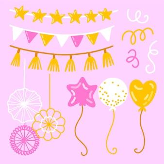 Verjaardag decoraties ontwerp