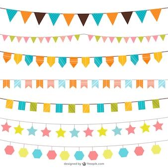 Verjaardag decoraties vector