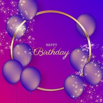 Verjaardag feestelijke achtergrond met helium ballonnen.