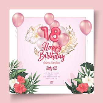 Verjaardag flyer-sjabloon